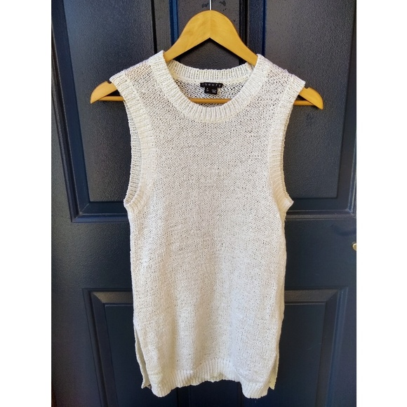 Theory Tops - Theory | knitted sleeveless sweater top size p/tp